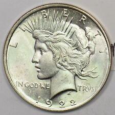 1922 Peace Dollar Silver MS ++ CH BU+ U0280