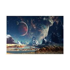 Starry Sky Landscape Art Paintings Prints Canvas Poster Home Ornaments Gift