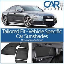 Audi A6 4 Door 2011-18 UV CAR SHADES WINDOW SUN BLINDS PRIVACY GLASS TINT BLACK