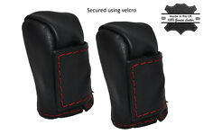 RED STITCHING 2X LEATHER STRIKER SKIN COVERS FITS TOYOTA MR2 MK3 2000-2007