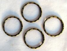 "250 KEY RINGS ~ 25 - 28mm 1"" Split Ring ~ Hammered ~ ANTIQUE BRASS ~ SteamPunk"
