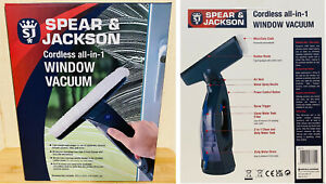 Spear & Jackson Cordless All-In-1 Window Vacuum with Spray Trigger