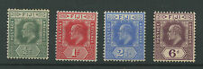Fiji SG118-121 1908-10 1/2d to 6d short set Mounted mint
