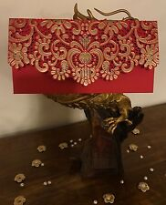 Royal Vintage Rosso Taglio Laser Matrimonio invitare SALAME shagun Soldi Buste Regalo