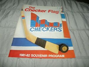 Vintage Indianapolis Checkers CHL Hockey 1981-82 Official Program