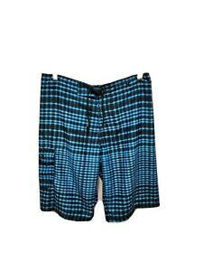 Boys Hurley Blue/Black Swim Trunks Shorts (Size 18) without net lining