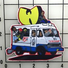 "Wu Tang Ice Cream Truck 4"" Wide Color Vinyl Decal Sticker - BOGO"