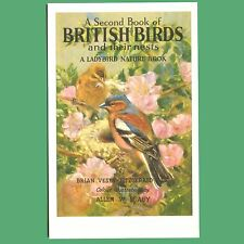 Postcard Of British Birds And Their Nests - Ladybird Book Cover