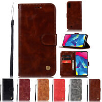 Luxury Magnetic Flip Wallet Card Stand Leather Case Cover For Samsung Galaxy M10