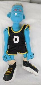"1996 McDonald's Space Jam Monster Blanko Plush 12"" Stuffed Animal Movie Blue"