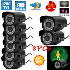 Lot 8 1200Tvl Hd Outdoor Cctv Surveillance Security Camera 36Ir Day Night Video