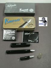 Kaweco Sports Calligraphy Füllerfederhalter Set Black 2 Calligraphy Springs #