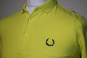 Fred Perry x Raf Simons Polo Shirt - XS - Bright Yellow/Navy Blue - 80s Mod Top