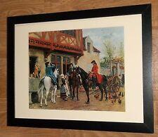 Hunting meeting framed wall art -12''x16'' frame, Halting at the Inn, Meissonier