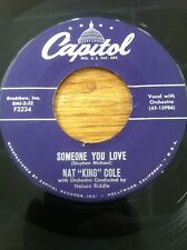 NAT KING COLE FORGIVE MY HEART / SOMEONE YOU LOVE CAPITOL 45 RPM