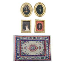 1/12 Dollhouse Accessory Mini Decor Kit Woven Carpet And Wall Painting