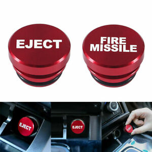 Universal Fire Missile Eject Button Car Cigarette Lighter Plug Cover Accessories