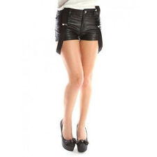 ABBEY DAWN by Avril Lavigne LADIES SHORTS HOT-PANTS 'TROUBLE' LEATHER LOOK