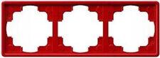 Gira S-Color rot, RAHMEN 3-FACH 021343