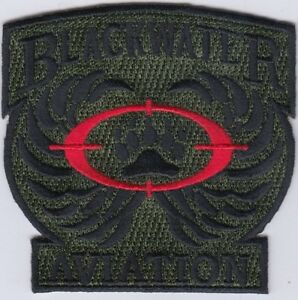 """BLACKWATER AVIATION Embroidered Patches  3""""x3"""" iron-on"""