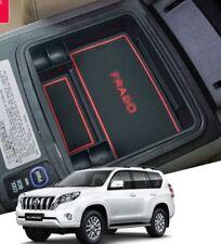 Car Central Armrest Storage Box For Toyota Prado FJ150 2010-2016  Red Mats