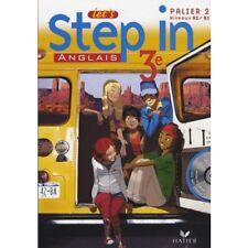 "MP005 HATIER ""Let's Step In"" Manuel avec CD 3e Palier 2 A2-B1"