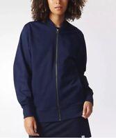 NWT Womens adidas Originals Navy Blue XbyO Full Zip Track Jacket Sz M Medium