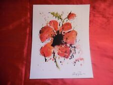 """""""Abstract Poppy"""" by artist Dominic Pangborn Seriolithograph on Archival Paper"""