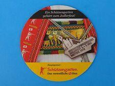 Beer Brewery Coaster <> Schutzengarten Bier ~ St Gallen, SWITZERLAND ~ 2013 Fest