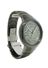 Dolce & Gabbana Time DW0249 Men's Round Analog Date Dark Silver Tone Watch
