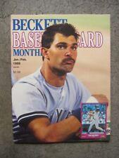 Beckett Baseball Card Monthly Jan/Feb 1988 Don Mattingly/Will Clark covers