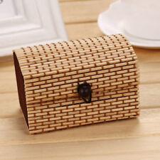 Cute Bamboo Storage Box Home Organizer Jewelry Boxes Wooden Trinket Storage Case