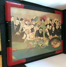"""Edvard Munch At the Roulette Table in Monte Carlo Framed 29.5""""x21.5"""""""