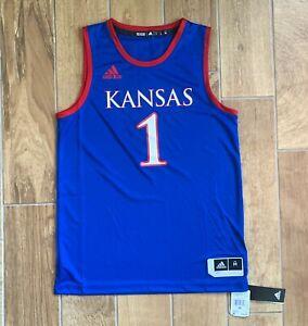 New Mens Adidas Kansas Jayhawks Swingman Basketball Jersey KU DY7744 Sz M $80