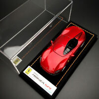 Looksmart 1:43 Scale Ferrari SP1 Monza Metal Red Car Model Collection w/Base