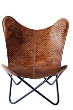 Black Panther Butterfly Chair Iron Stand and Leather Cover indoor outdoor Chair