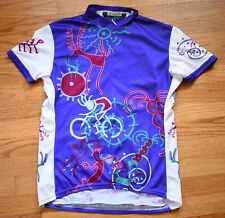 PERFORMANCE Cycling Jersey Womens Large Purple White Pink Green Bicycle
