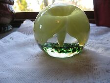 Yellow Flower Paperweight Toney's Art Glass Frankton In.