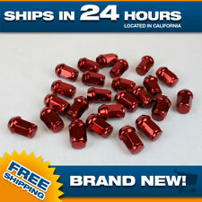 14x1.5 lug nut Set of 24 pc lugnuts for Chevy GM GMC Ford Truck Red Acorn