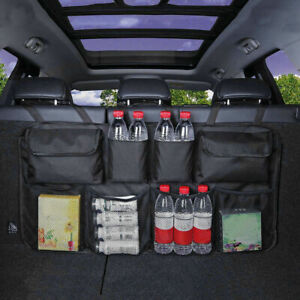 Car Trunk Cargo Storage Bag Organizer Hanging Back Seat Pocket Adjustable Strap