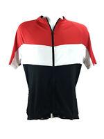 Performance Bicycle Mens XL Cycling Jersey Shirt Full Zip Black Red White SS  BK