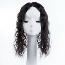 Mono Base Curly 100% Remy Human Hair Clip in Topper Hair piece Cover Loss Hair