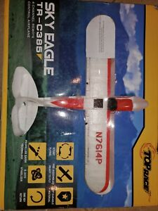 Top Race Sky Eagle TR-C385 RED & White 4 Channel Remote Control Airplane