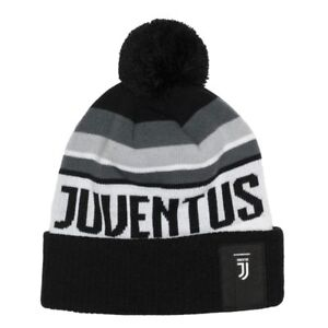 JUVENTUS NEW LOGO POM BEANIE/TOQUE OFFICIALLY LICENSED Fi COLLECTION