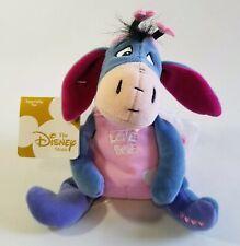 """Walt Disney Eeyore Love Bug Spring 8"""" Beanie Adorable Wings NWT"""