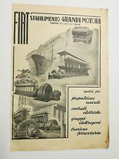 Pubblicità 1951 FIAT MOTORI TORINO MOTORS advertising werbung reklame publicitè