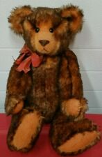 ARTIST German Tipped MOHAIR TEDDY BEAR By LANE CARPENTER With Tags