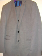 Fellini Tailored mens 3 piece suit 42R worn once wedding