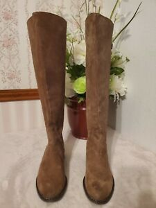 Franco Sarto Brown Brenna Suede Tall Boot Mushroom Women's Size 7 $225