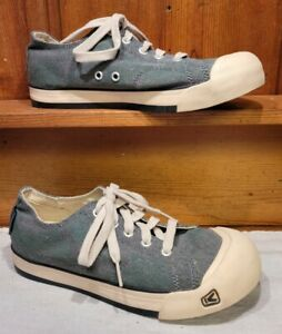 KEEN Women's Sz 7.5 /38 Green Lace Up Sneakers Fabric Shoe Removable Insoles